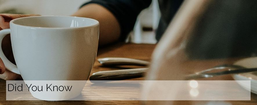 Image of coffee cup on desk