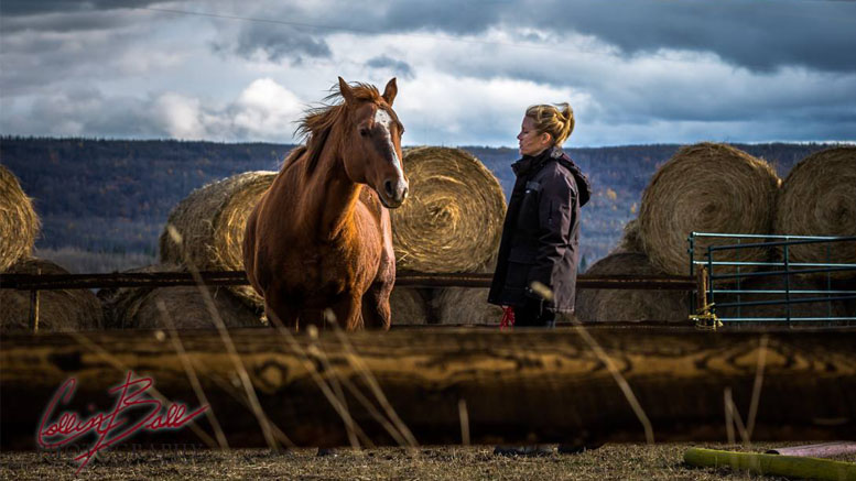 Image of Brianne Hingley with horse by Collin Ball Photography