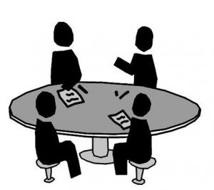 Image of people at table during workshop